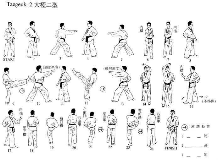 Tekniker inom taekwando